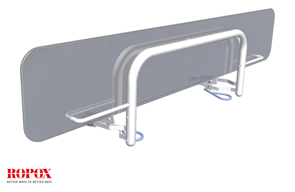 The ROPOX Height Adjustable Changing Bench can be supplied with a side rail if required